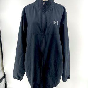 Men's medium full zip under armour coat